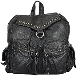Moda King Women's Handbags (Black) (ModaKing008)