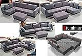 New Multifunction Sectional Sofa Dark Grey Microfiber S160G