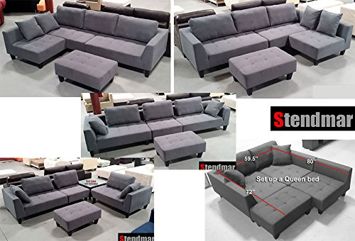 new-multifunction-sectional-sofa-dark-grey-microfiber-s160g