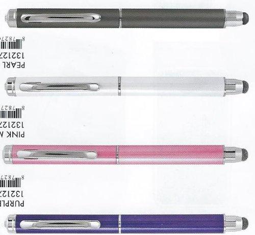 Good Bead Metallic Crystal Top Duet Pen Stylus (Purple)