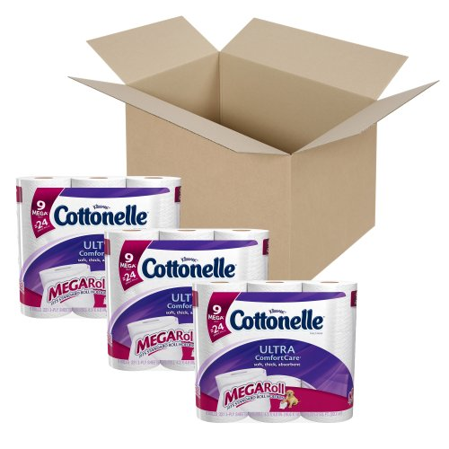 Cottonelle Ultra Comfort Care Toilet Paper, Mega Roll, 9 Cou