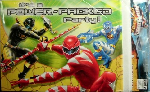 Power Rangers DinoThunder Party Invitation Cards