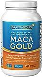 NutriGold # 1 organique racine de maca en poudre Capsules - Maca Or, 500 mg, 180 Vegetarian Capsules - sans OGM, sans conservateur, Gold Standard péruvienne racine de maca Pills