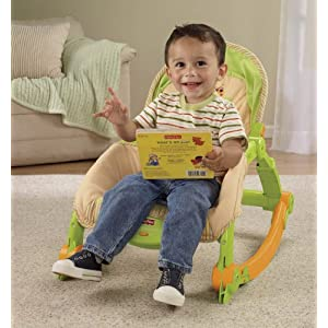 Fisher-Price Newborn-To-Toddler Portable Rocker, Lizards
