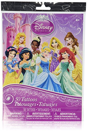 Disney Princess Temporary Tattoos - 50 Temporary Tattoos