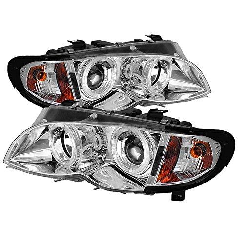 Spyder Auto PRO-YD-BMWE4602-4D-AM-C BMW E46 3-Series 4-Door Chrome Halo Projector Headlight