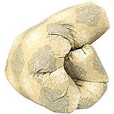 昭和西川 日本製 羽毛布団 ダブル 190×210cm ハンガリー産ホワイトダウン90% 505柄 ベージュ