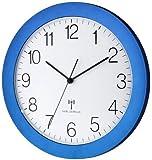 Funk-Wanduhr TFA 60.3512.06 blau-metallic mit Lautlos Sweep-Uhrwerk 300 mm