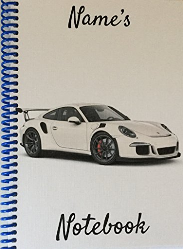 porsche-sports-car-personalised-notebook