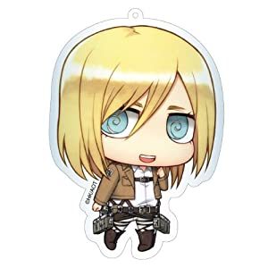Amazon.com : Contents-seed Attack on Titan Deka Key Ring Historia