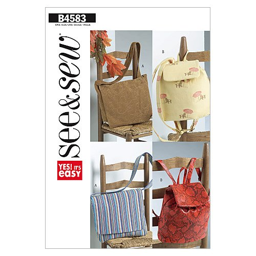 Butterick Patterns B4583 Utility Bags, One Size Only