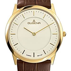 Dugena CLASSIC 4460346 - Reloj de caballero de cuarzo, correa de piel color marrón marca Dugena