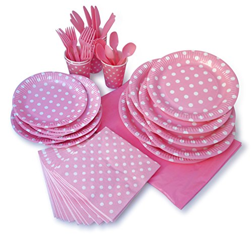 Purchase LolliZ Party Pack For 8, Pink/Polka Dots Design
