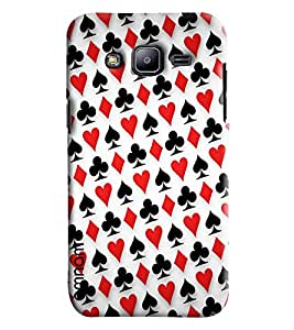 Omnam Playing Card Pattern Printed Designer Back Cover Case For Samsung Galaxy J2