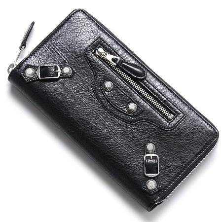 (バレンシアガ) BALENCIAGA ラウンドファスナー 長財布[小銭入れ付き] GIANT CONTINENTAL ARENA NERO ブラック [並行輸入品]