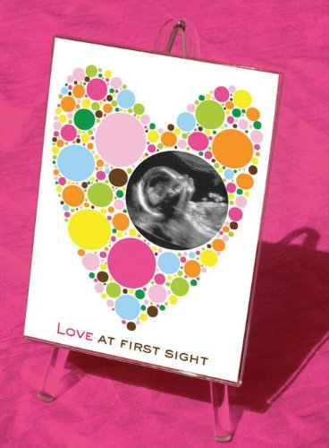 Raebella'S Polka Dot Heart Baby Sonogram Picture Frame From The Love At First Sight Keepsake Collection Multi Color front-708058