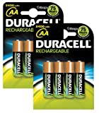 Duracell rechargeable 2400 mAh AA batteries - 8 pack