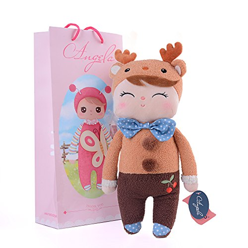 Me Too Angela Stuffed Deer Girls Plush Doll Gifts for Baby 12 inches+Gift Bag (Angelina Ballerina Clothes compare prices)