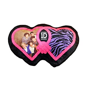"1 D One Direction Heart Shaped 18 "" Bed Throw Pillow Decorative Collectible Cushion"
