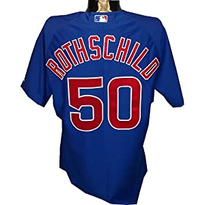 Larry Rothschild #50 Chicago Cubs 2010 Opening Day Game Used Road Jersey (LH719515) (48) - Steiner Sports Certified