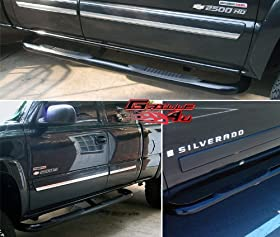 APS NB-C3004B Black Coated Nerf Bar Bolt Over for select Chevrolet Silverado 1500