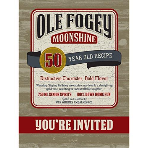 Ole Fogey Moonshine 50Th Birthday Invitation (8) Invites Party Supplies