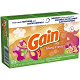 Gain With Freshlock Island Fresh Dryer Sheets 80 Count (Pack of 3)