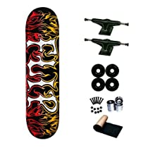 Flip Team Alchemy Gold Red 8.0 Skateboard Deck Complete