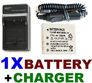 NEEWER® NP-40 Battery + Charger Set for Pentax Optio: T10, T20, W10, W20, WP & MORE!