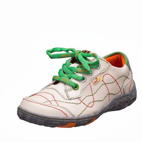 TMA EYES 1366 Schnürer Gr.36-42 mit bequemen perforiertem Fußbett , Leder 39.35 super leichter Schuh der neuen Saison. ATMUNGSAKTIV in Weiß Gr. 36