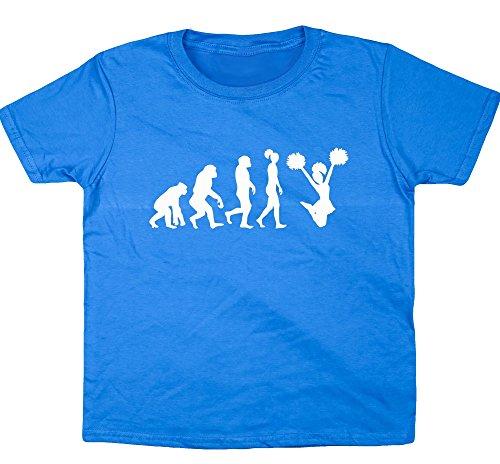 HippoWarehouse cheerleader Evolution T-Shirt per bambini a maniche corte Sapphire Blue 9-11 Anni