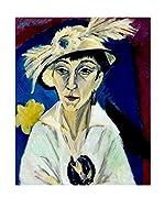 Especial Arte Lienzo Ritratto di Erna Schilling - Kirchner Ernst L Multicolor