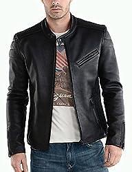 Zayn Leather Men's Leather Jacket (517_WLJ_Black_Small)