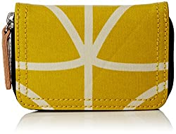 Orla Kiely Giant Linear Stem Medium Zip Wallet, Dandelion, One Size