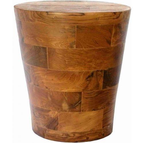 Groovy Stuff Teak Wood Cone Block Side Table - Tf-783