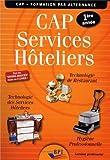 Cap Services Hoteliers Prof. Première Annee