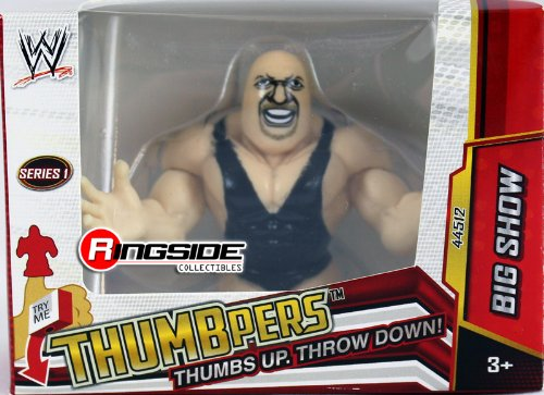 BIG SHOW - WWE THUMBPERS SERIES 1 WICKED COOL TOYS WWE TOY WRESTLING ACTION FIGURE - 1