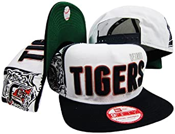 Detroit Tigers Big Side Two Tone Adjustable Snapback Hat Cap by New Era