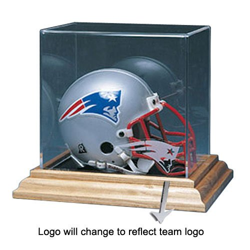 BSS - Baltimore Ravens NFL Mini Helmet Display Case (Wood Base) at Amazon.com