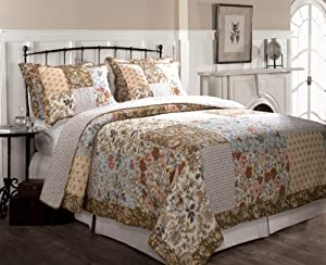 Greenland Home Camilla Quilt Set, Full/Queen