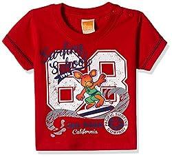 Little Kangaroos Baby Boys' T-Shirt (11359_Red_9 months)