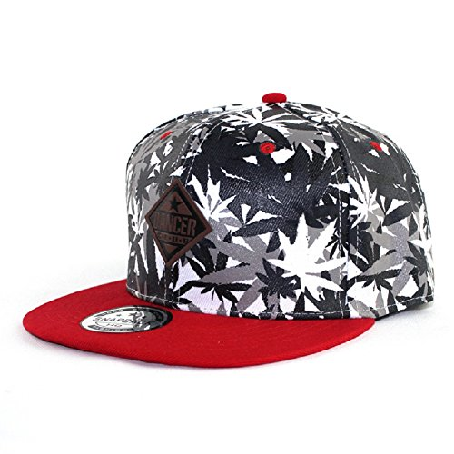 YCMI-Hip-Hop-Maple-Leaf-Marijuana-Weed-Adjustable-Snapback-Cap-Hat-Baseball-Caps
