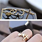 Ladys attracting rings Cross& love &star shape low price Reasonable structure