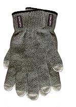 Concepts Premium Unisex Wool Gray Touch Screen Gloves Black Trim Regular