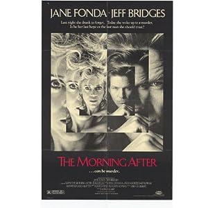 jane fonda amp  jeff bridges 1986 morning after folded original movie poster