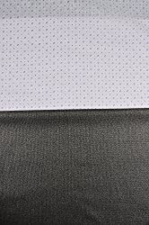 Grasim Men's Polyester Cotton Shirt and Trousers Fabrics (23, White and Black)