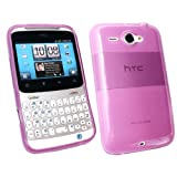 Kit Me Out UK Frosted TPU Gel Case for HTC Chacha - Purple