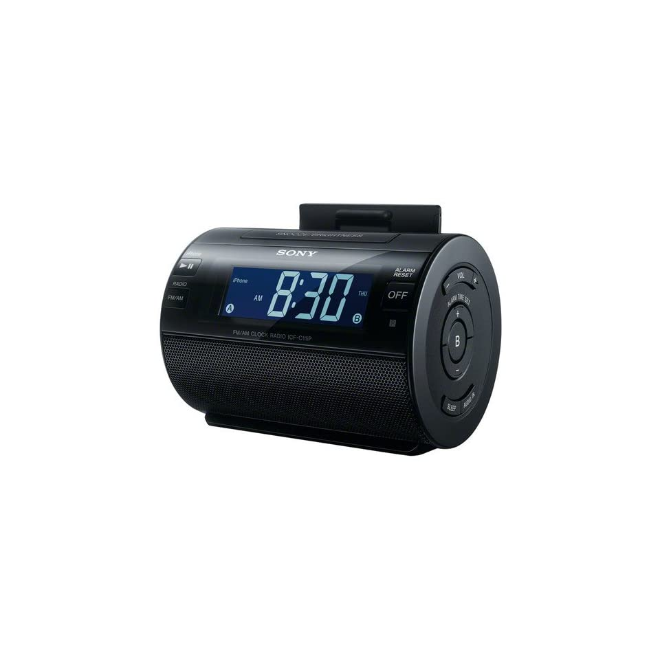 Sony Ipod/Iphone Dock Clock Radio Compatible With iPhone 5, iPod touch 5th generation, iPod Nano 7th generation, Charges iPod/iPhone While Docked, Dual 2/5/7 Day Alarm, Digital AM/FM Radio, Auxiliary Audio Input, Plus Remote Control Included Electronics