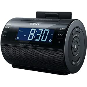 sony ipod iphone dock clock radio compatible with iphone 5 ipod. Black Bedroom Furniture Sets. Home Design Ideas
