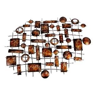 Landon tyler wanddeko aus metall abstrakt - Wanddeko metall abstrakt ...
